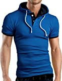 Grin&Bear Men's Hooded Polo Shirt