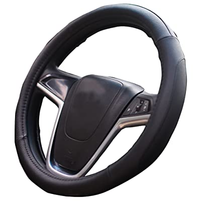 Mayco Bell Car Steering Wheel Cover 15 inch Comfort Durability Safety (Black): Automotive