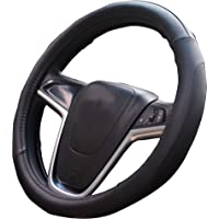 Mayco Bell Car Steering Wheel Cover 15 inch Comfort Durability Safety (Black)
