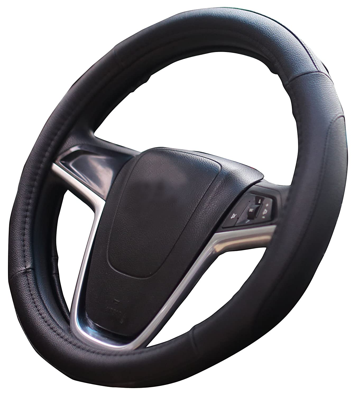 Mayco Bell Car Steering Wheel Cover 15 inch Comfort Durability Safety (Black Black) Mayco Bell 005