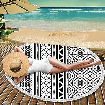 Amazon.com: Fashion Sunbathe Round Beach Towel Large ...
