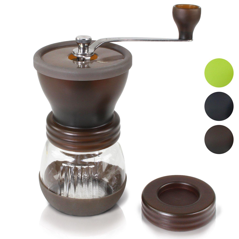 Amazy Molinillo de Cafe Manual  Molinillo de Ceramica para disfrutar del