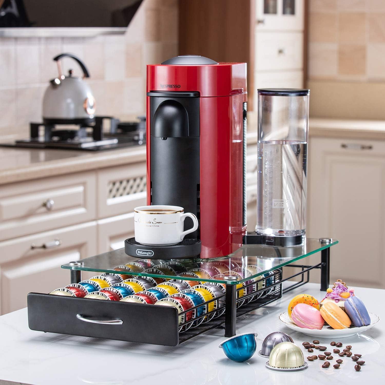 Capsules Holder Crystal Tempered Nespresso Vertuoline Storage Drawer Holder