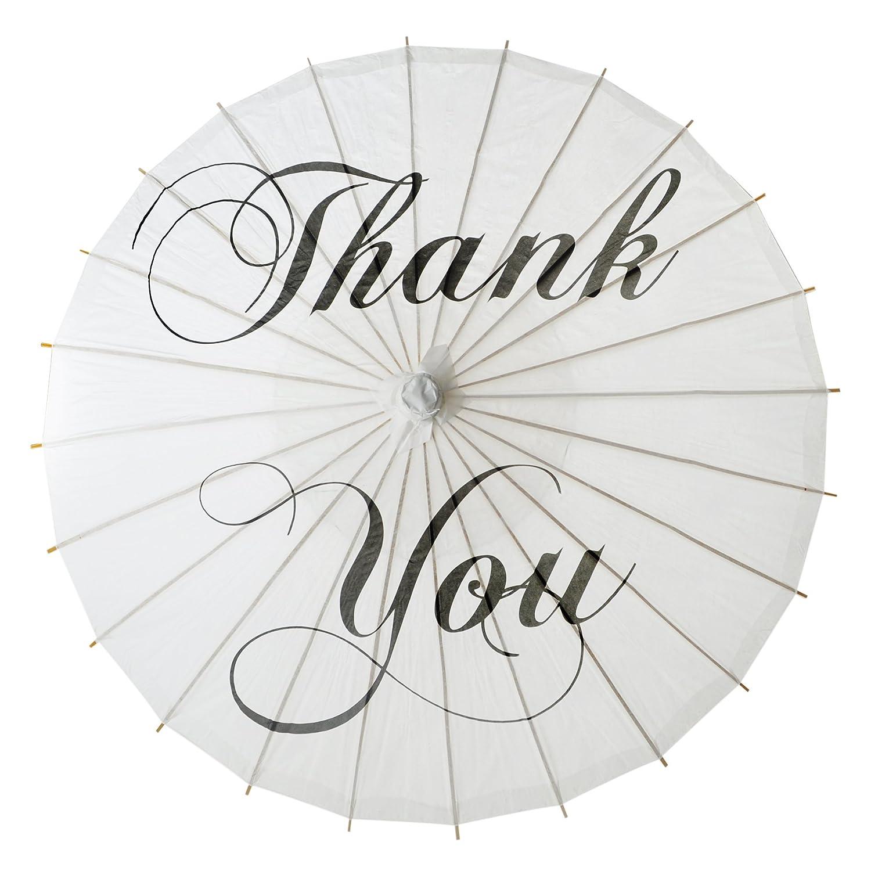 Aspire Blanco Boda Parasol de Papel Decoración para Boda Fiesta Novia Showers Fotos, Thank You, 12 Unidades