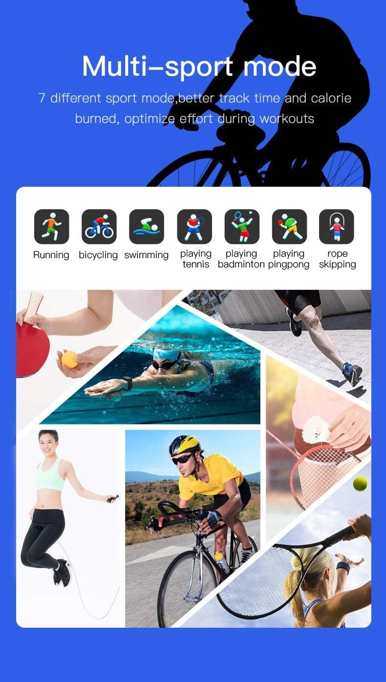 Tracker dActivit/é 1.3 Ecran Couleur Montre Sport Cardiofr/équencem/ètre Tension Art/érielle Oxyg/ène Moniteur de Sommeil Podom/ètre Bracelet Connect/é Etanche pour Femme Homme Showyoo Montre Connect/ée