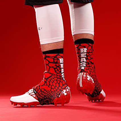 1fc40234806 Amazon.com   Beast Snake Skin Red Spats Cleat Covers   Sports   Outdoors