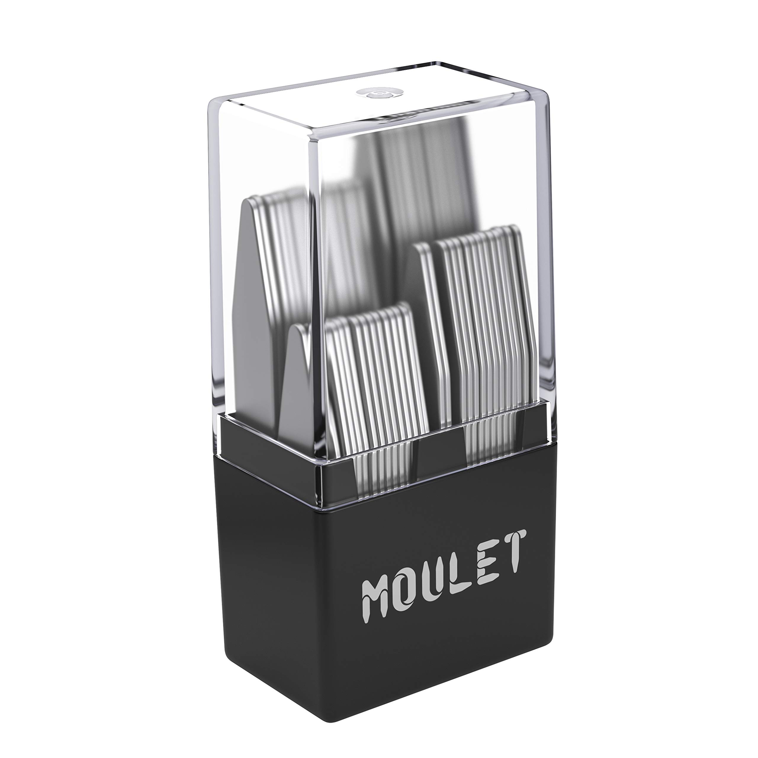 56 Metal Collar Stays in a Divided Box - 4 Sizes by Moulet by Moulet