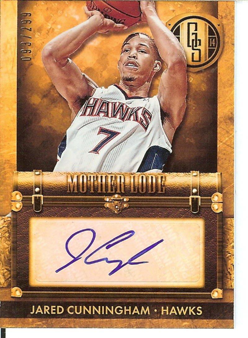 Basketball NBA 2013 14 Gold Standard Mother Lode Autographs #29 Jared Cunningham Auto 93 299 Hawks