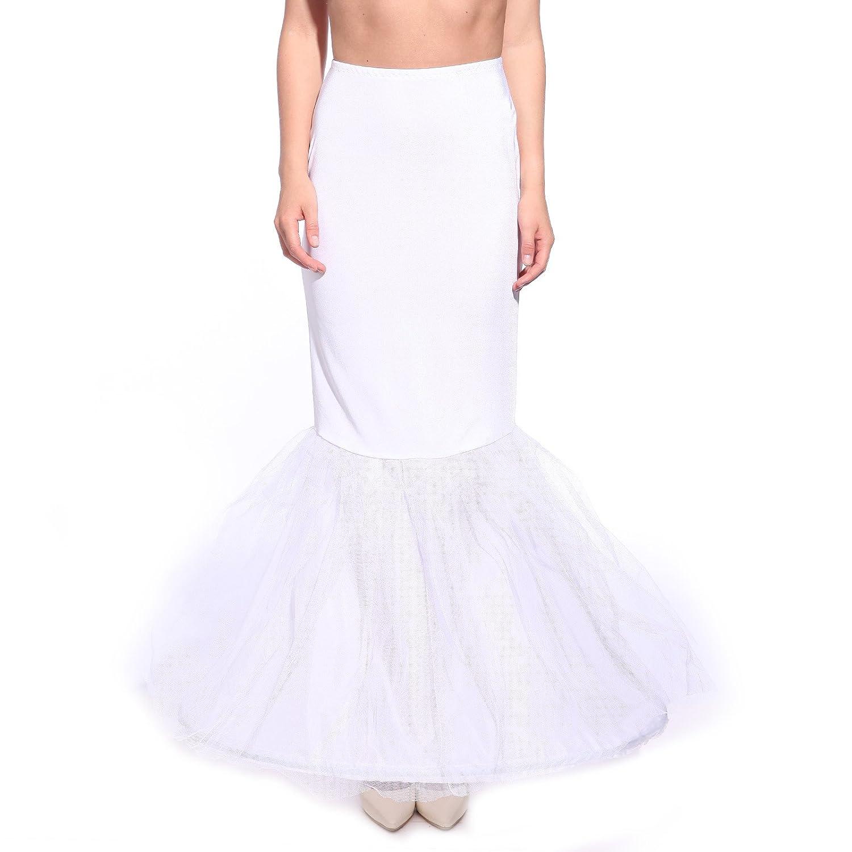 Weiss Gr.L Fishtail Mermaid Meerjungfrau Reifrock Petticoat ...