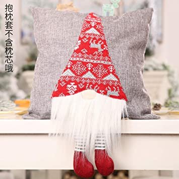 Amazon.com: Humeng - Funda de almohada con diseño navideño ...