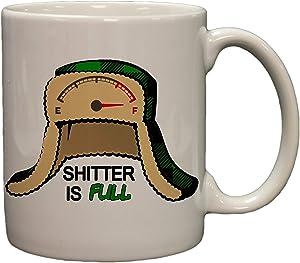 Shitter is Full Funny Christmas Movie Parody 11oz Coffee Mug