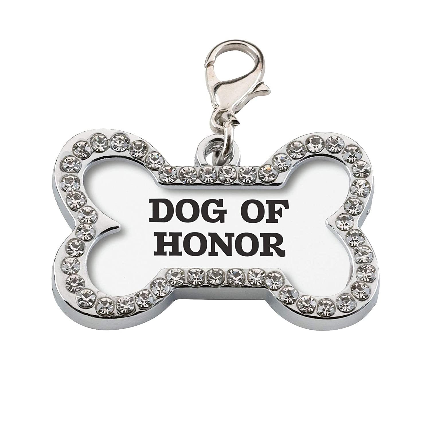 Lillian Rose PA135 DH Honor Wedding Dog Collar Charm, Measures 1.5