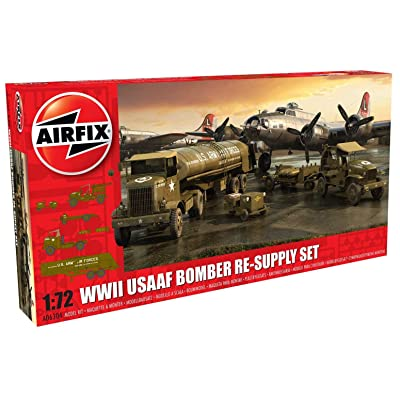 Airfix WWII USAAF 8th Air Force Bomber Resupply 1:72 Military Plastic Model Kit: Toys & Games