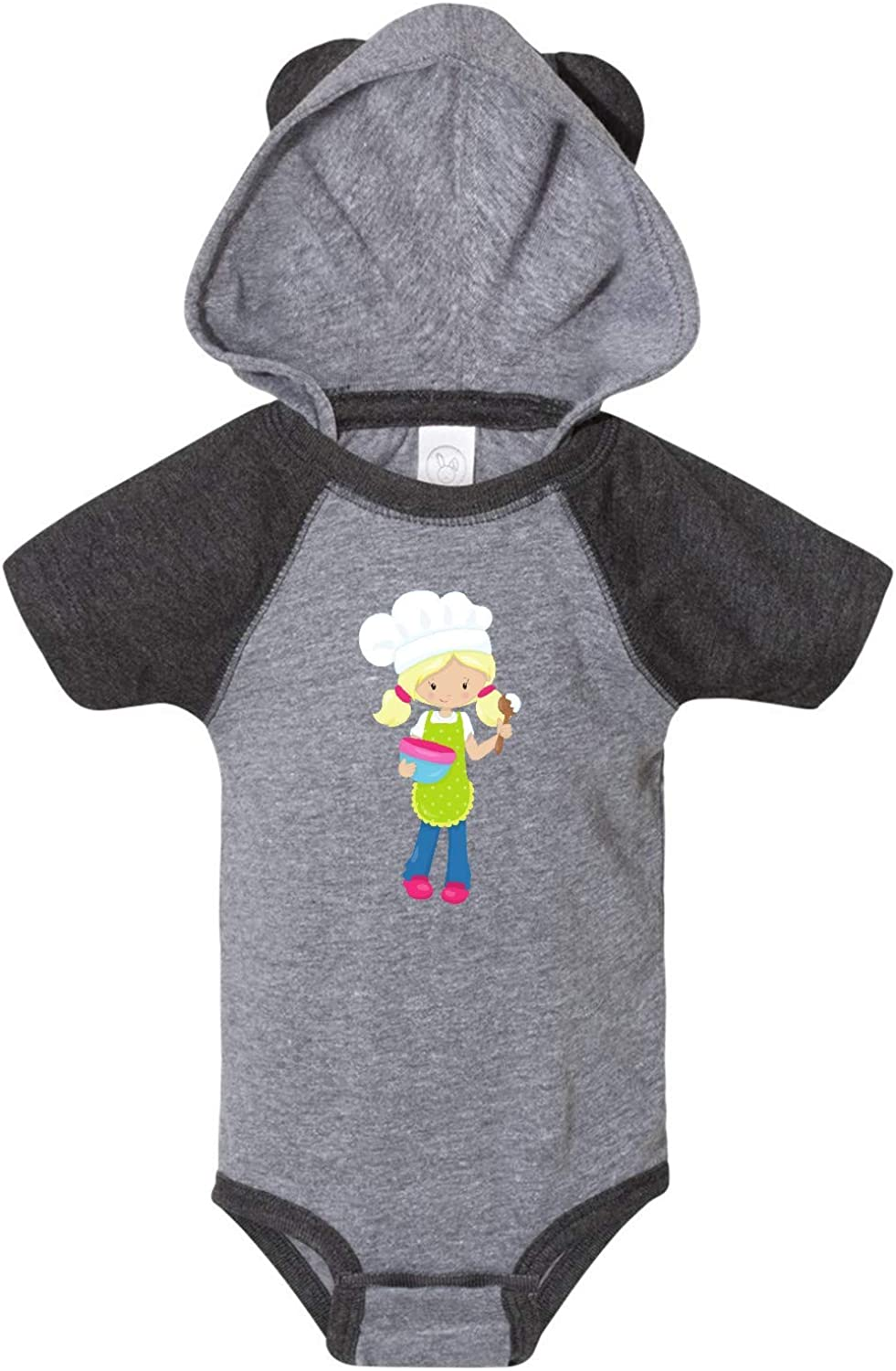 Girl with Blonde Hair and Ponytails Infant Creeper inktastic Baking Girl