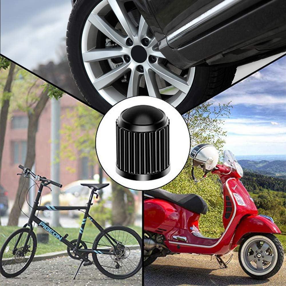 unbrand Gresunny 20pcs Reifenventilkappen Ventilkappen Kunststoff in Schwarz Reifen Ventil Staubkappen.Ventildeckel Autoreifen f/ür SUV Motorrad LKW Fahrrad
