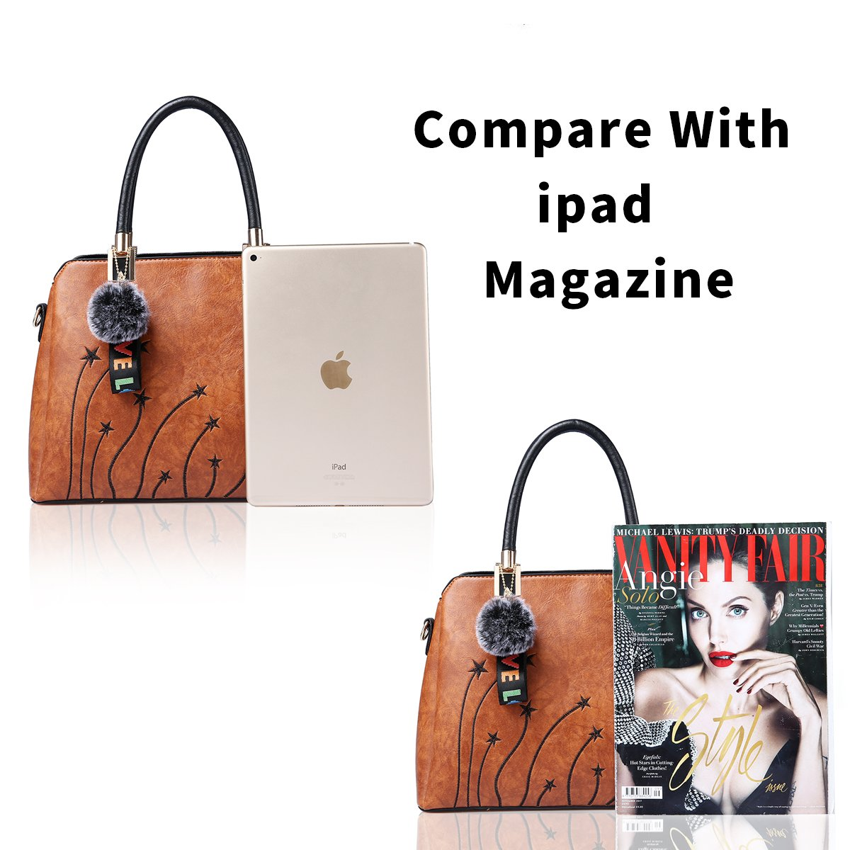 Women Purses and Handbags Top Handle Satchel Shoulder Tote Bags Fashion Leather Girls Crossbody Bag by PINCNEL (Image #5)