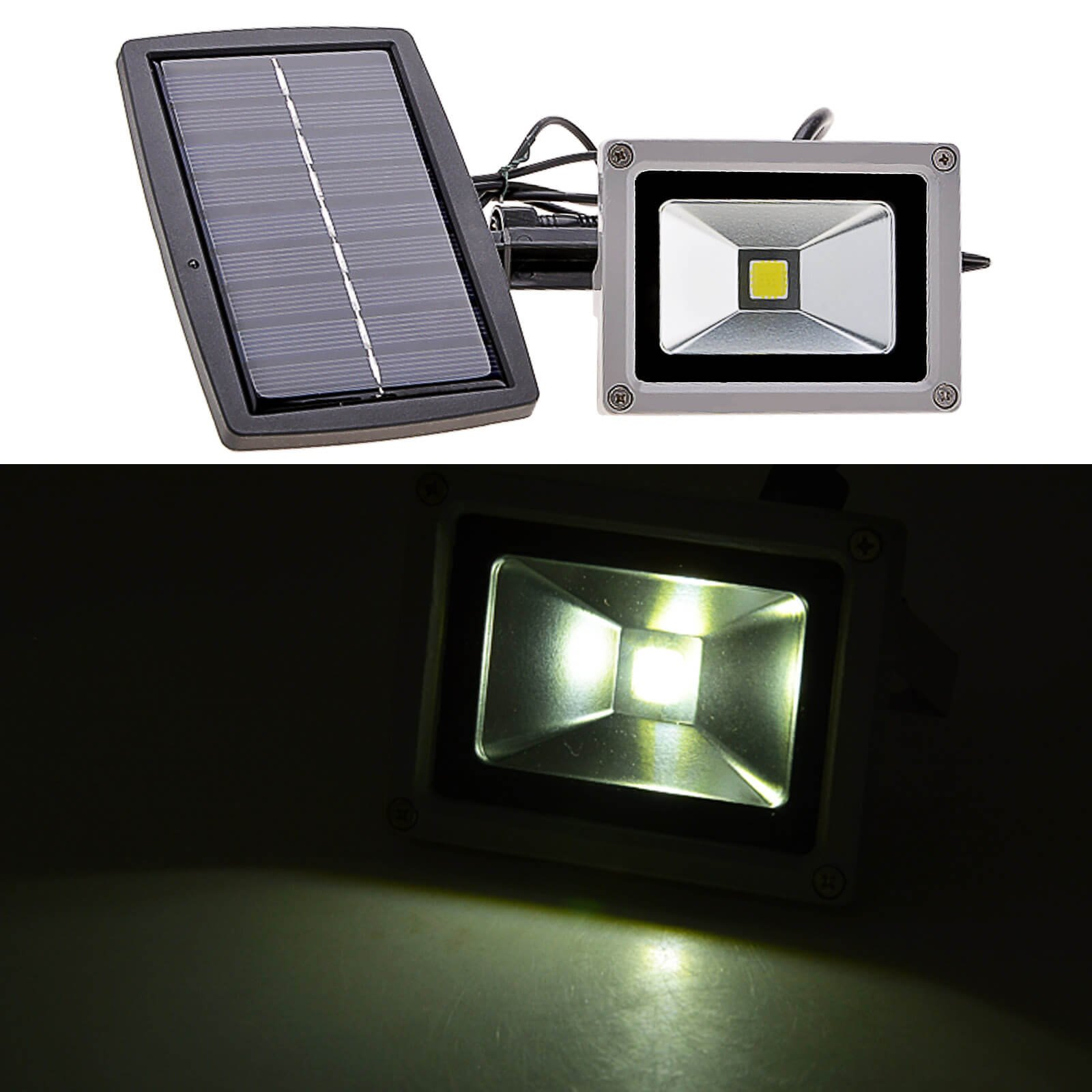 Solar Power LED Flood Night Light 10w Garden Spotlight Waterproof Outdoor Lamp (Energy class A++) (Cold White) by Homdox (Image #4)