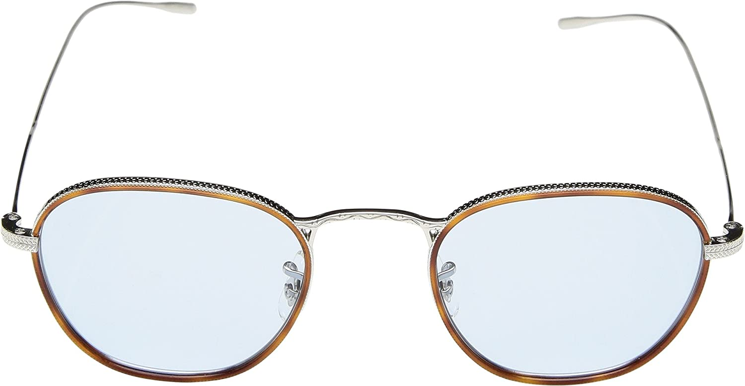 1555d980adb Amazon.com  Oliver Peoples Unisex Eoin Amber Tortoise Silver One Size   Clothing