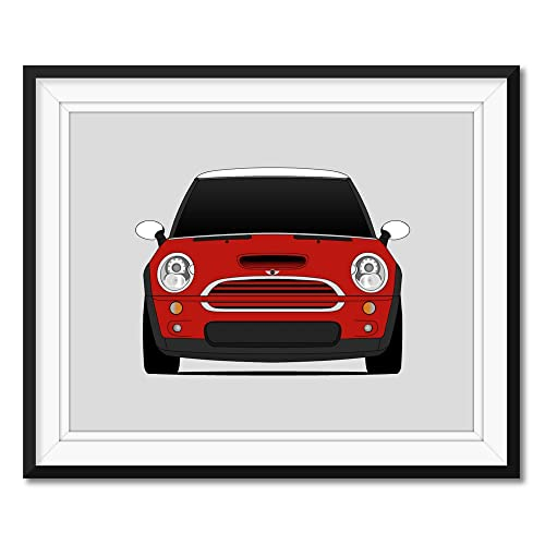 Photo Vintage Mini Cooper Red Classic Car Giant Wall Art Poster Print