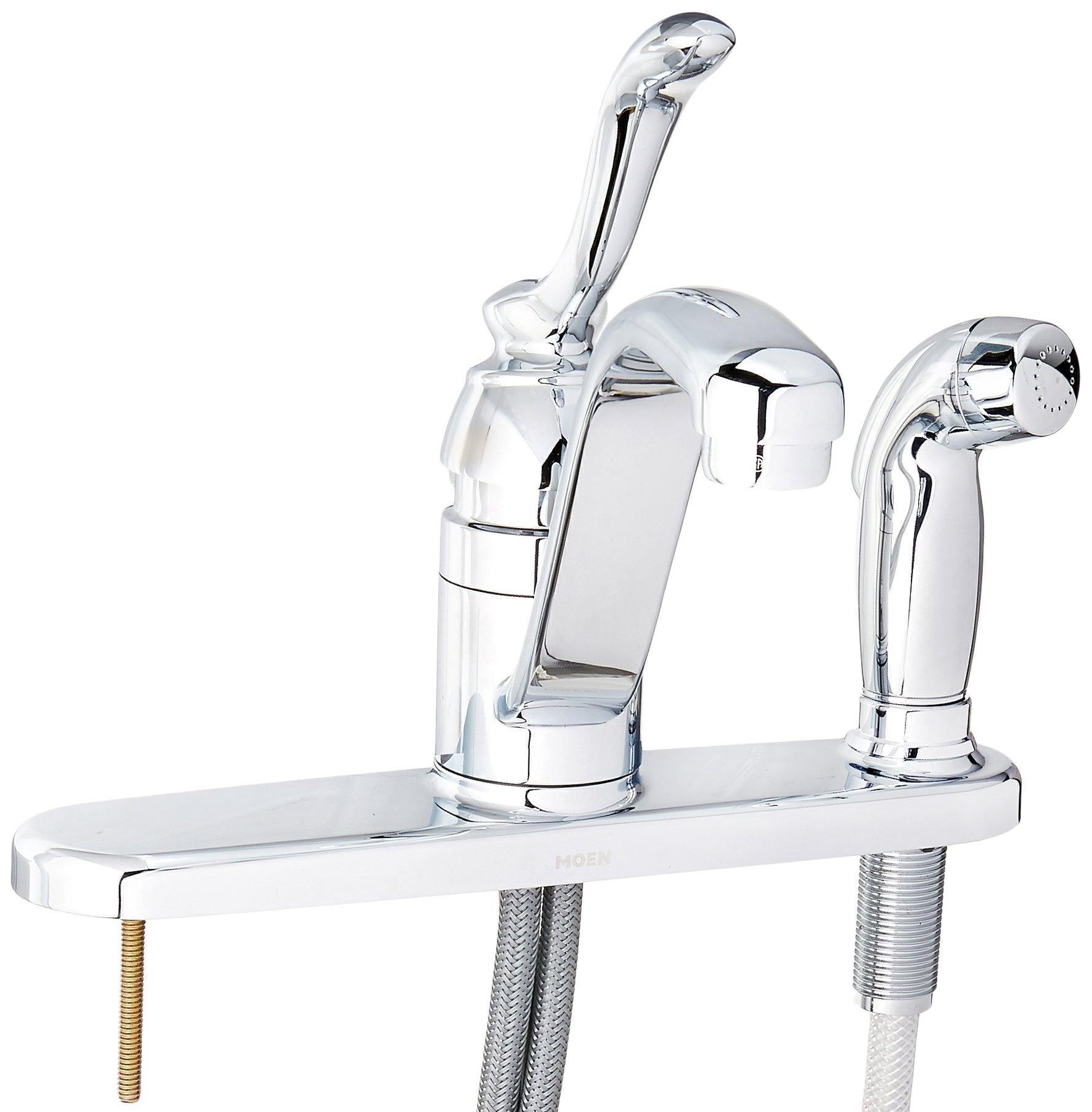 Moen CA87527 Kitchen Faucet with Side Spray from the Banbury Collection, Chrome