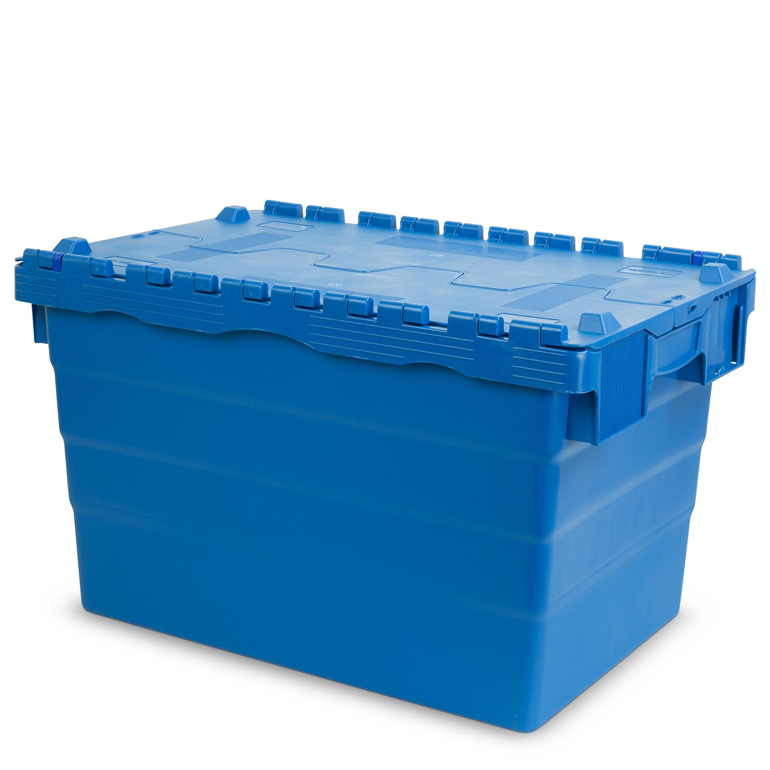 Hans Schourup 22600461  Reusable Container with Hinged Lid, 600  mm x 400  mm x 365  mm, blue 600 mm x 400 mm x 365 mm
