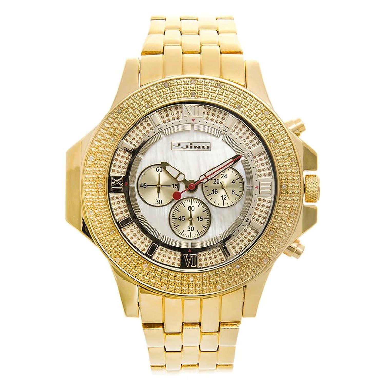 Jojino Arizona mj-1203. 61 -80 mm rund. Herren Diamant Uhr. (gelb)