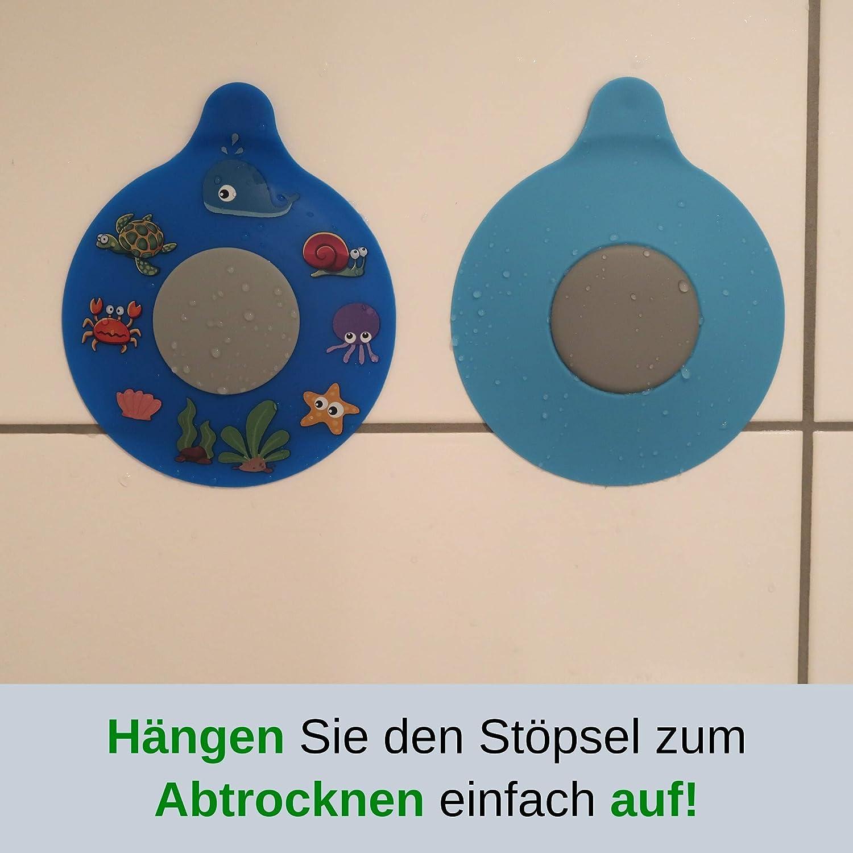 aus Silikon Dusche f/ür Badewanne Universal St/öpsel f/ür Kinder Waschbecken mit 13 cm Durchmesser f/ür alle Abfl/üsse bis 90 mm nicht schmutz-anf/älliger Abfluss-St/öpsel Babybadewanne