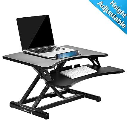 ModernLuxe Escritorio de pie de altura ajustable sentado a la mesa ...