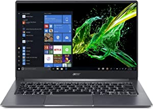 "Acer Swift 3, 14"" Full HD IPS, 10th Gen Intel Core i5-1035G1, 8GB LPDDR4, 256GB PCIe NVMe SSD, Intel Wireless Wi-Fi 6 AX201 802.11ax, Back-lit Keyboard, Windows 10, SF314-57-59EY, Gray"
