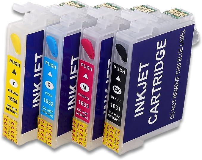 16XL Cartucho de tinta recargable vacío Compatible para Epson WF ...