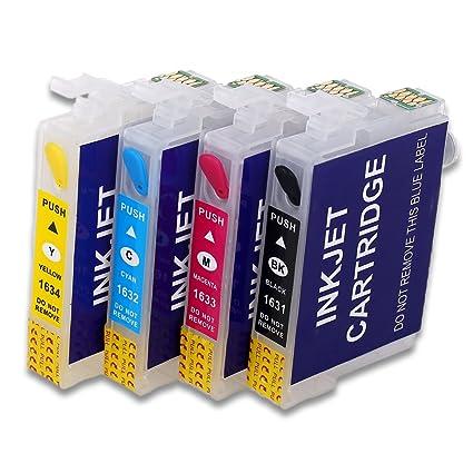 16XL Cartucho de tinta recargable vacío Compatible para Epson WF-2510 WF-2520NF WF-2530 WF-2540 WF-2010W WF-2650DWF WF-2630WF WF-2660DWF impresora