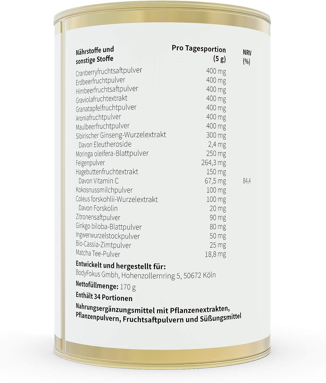 BodyFokus VitalKraft - Pérgola de fuerza y energía (combina 19 polifenoles): Amazon.es: Salud y cuidado personal
