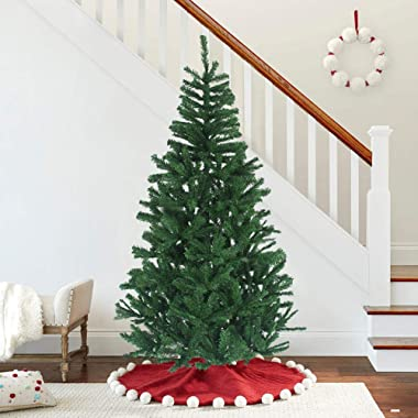 MAGGIFT 6 FT Hinged Artificial Christmas Tree Fir with Premium Metal Legs, Xmas Tree 640 Tips Whole Tree, Front Porch Home Christmas Ornament