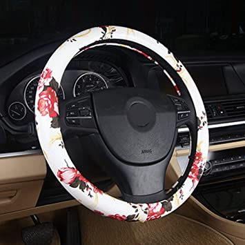 Cute Rats Steering Wheel Cover Breathable Anti-Slip Protector Car Accessory