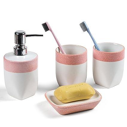 LBTSQ-Cepillo de Dientes de Cerámica Tazas Minimalista Creativo Lavar Copas Cepillo Tazas Trajes Regalos