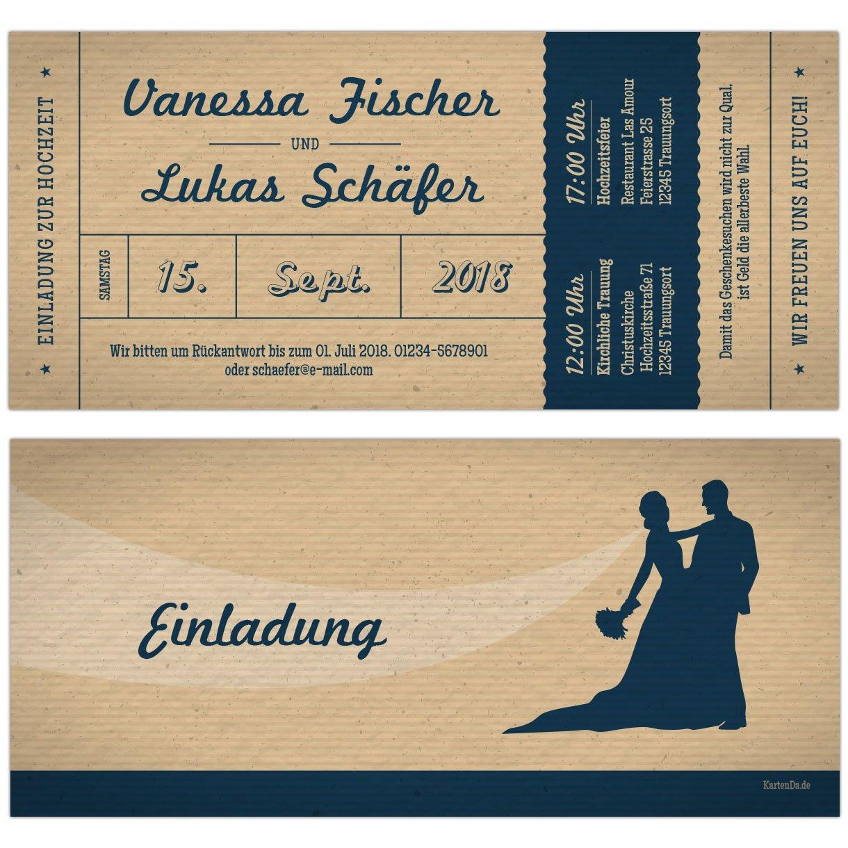 Hochzeitseinladungen vintage style retro hochzeitskarten einladung hochzeit 10 stk amazon de bürobedarf schreibwaren