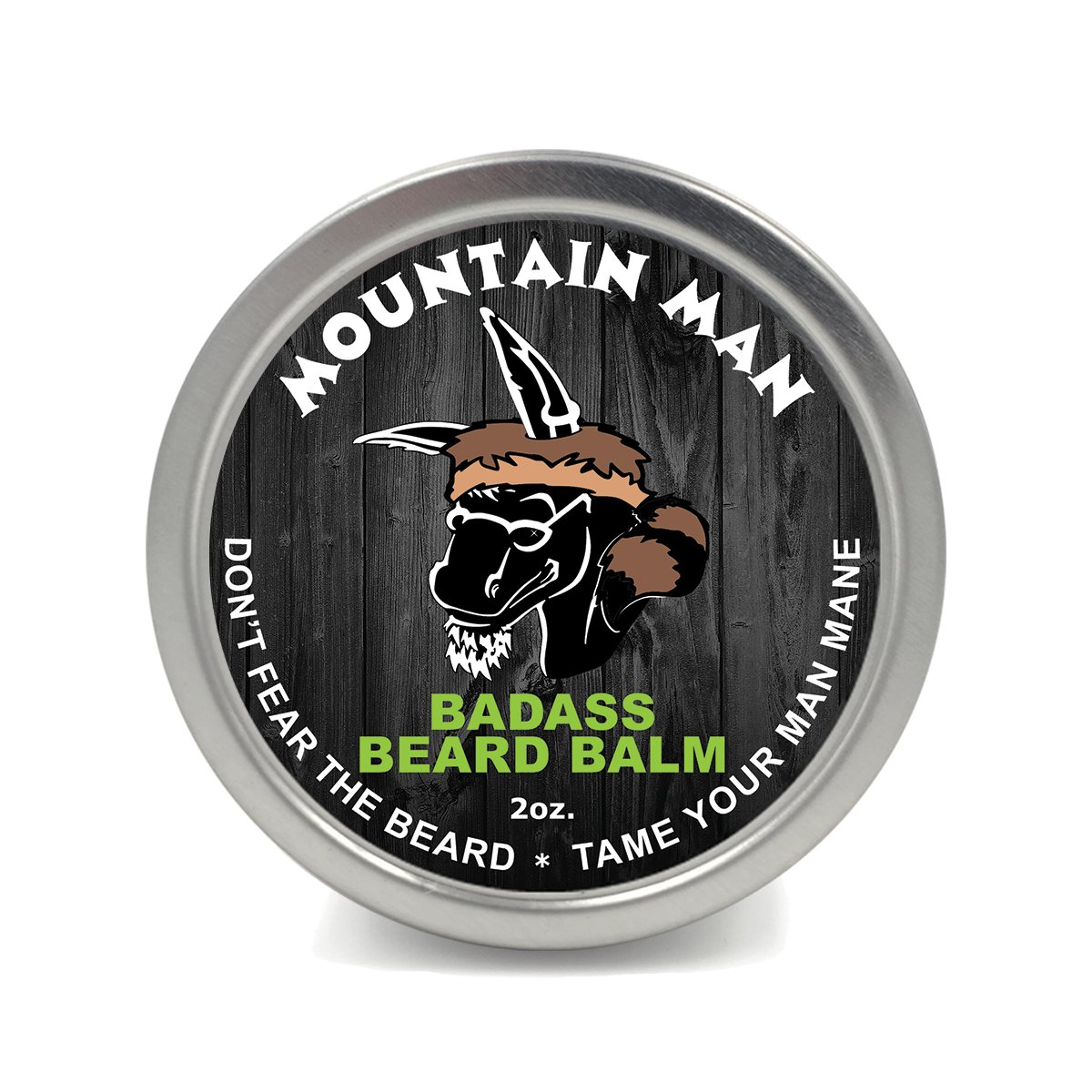 Badass Beard Care Beard Balm 2 oz Mountain Man