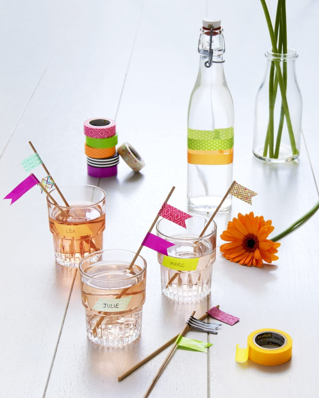 Dekoband, 15 mm x 10 m Scotch KK1510P Kreativ-Klebeband pink