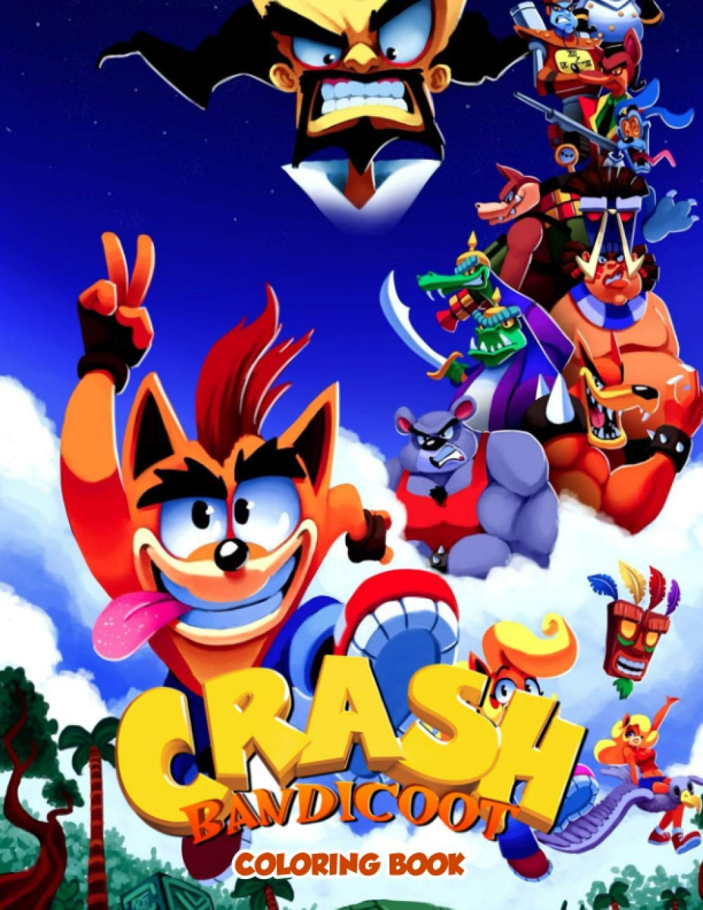 Crash Bandicoot Coloring Book Stunning Coloring Books For Adults And Kids Relaxing Activity Pages Melonie Olson 9798694295284 Amazon Com Books