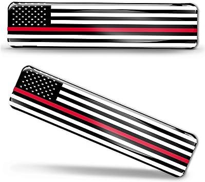 Biomar Labs 2 X Aufkleber 3d Gel Silikon Stickers Usa Amerika Thin Red Line Firefighter Flag America Dünne Rote Linie Feuerwehr Flagge Fahne Autoaufkleber F 58 Auto