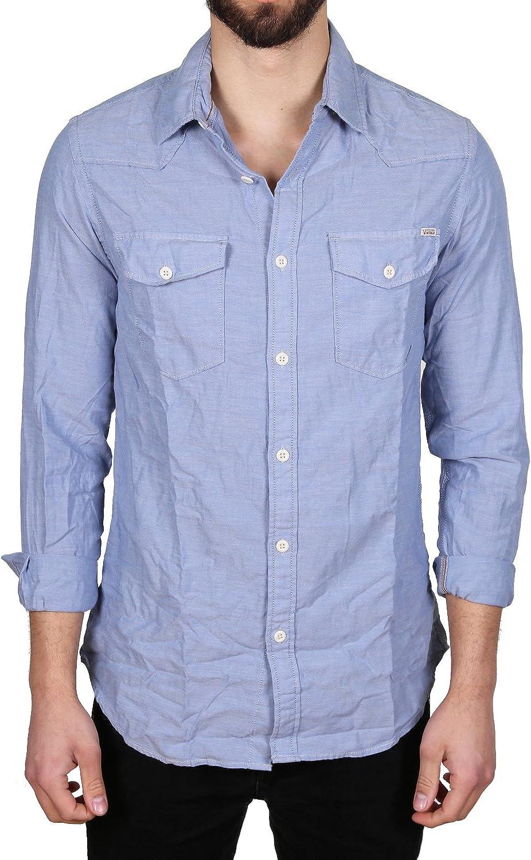 JACK & JONES - Camisa casual - para hombre azul claro X-Large ...