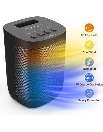 dodocool Calefactor Electrico de Aniones, Calefactor PTC, Calefactor Ventilador Ceramico Portatil,3 Modos