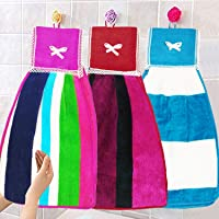 Kuber Industries Hanging Cotton 3 Pieces Cotton Washbasin Napkin/Hand Towel for Kitchen and Bathroom (Multi)