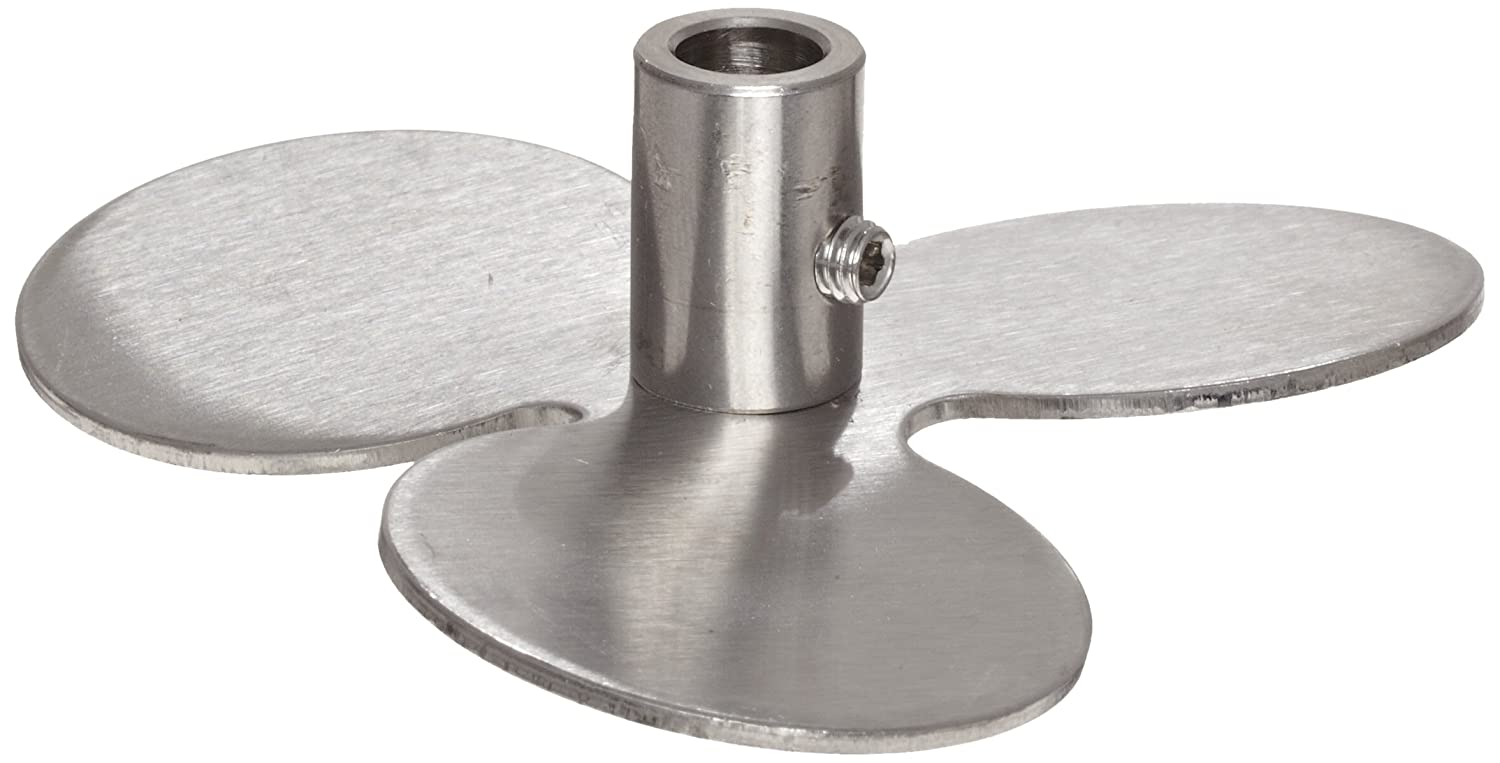 Talboys 152A Propeller Blade, 3.5' Diameter, Stainless Steel, For 5/16' Shaft Diameter 3.5 Diameter For 5/16 Shaft Diameter Troemner