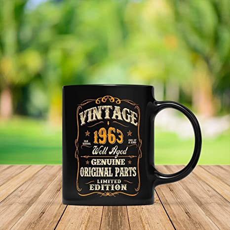 My 55th Birthday Shirt Turning 55 Years Old Funny 1963 Gift Mug For Men And Women Vintage