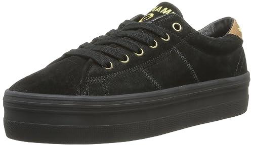 No Name Plato Sneakers Split - Zapatillas de Terciopelo para Mujer, Color Negro, Talla 40: Amazon.es: Zapatos y complementos