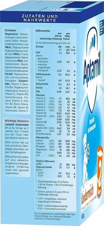 Aptamil Niños Leche 2 +, 5 unidades (5 x 600 g): Amazon.es: Alimentación y bebidas