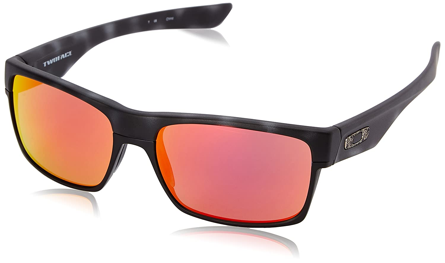 daee13a446 Oakley Twoface Special Edition Fallout Matte Black Tortoise - Ruby Iridium   Amazon.co.uk  Sports   Outdoors