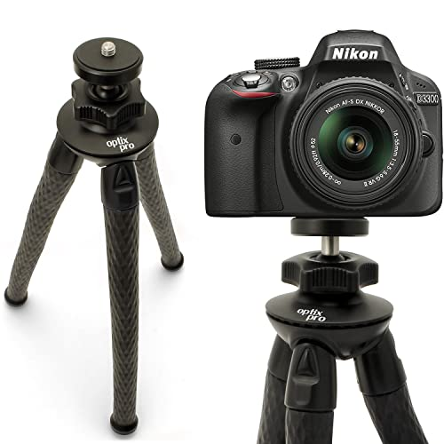 Optix Pro Large Ultra Flexible Tripod Stand with 360? Rotating Ballhead for Nikon D & Coolpix Range DSLR SLR Cameras