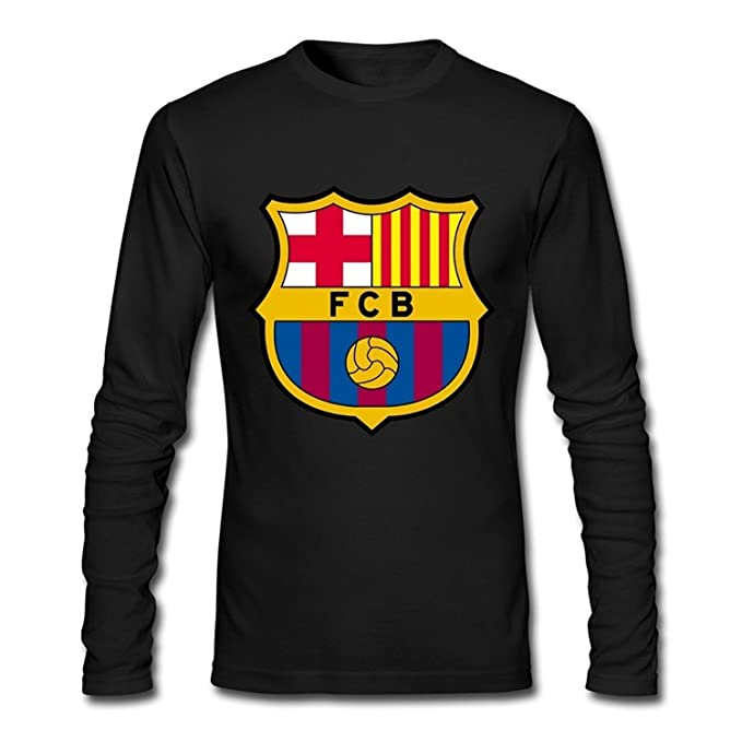 Dhoombros Mens Fc Barcelona Logo Soccer T Shirt Long Sleeve Amazon